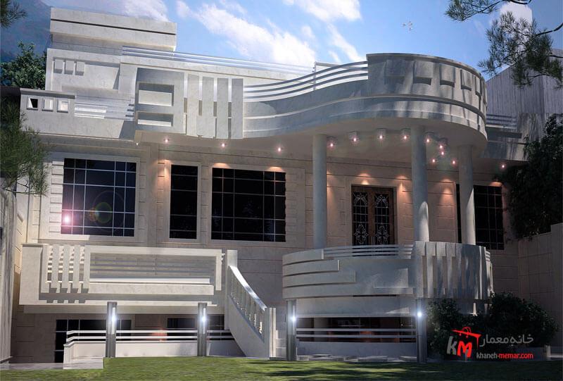 طراحی نما نمونه 14-01 |خانه معمار