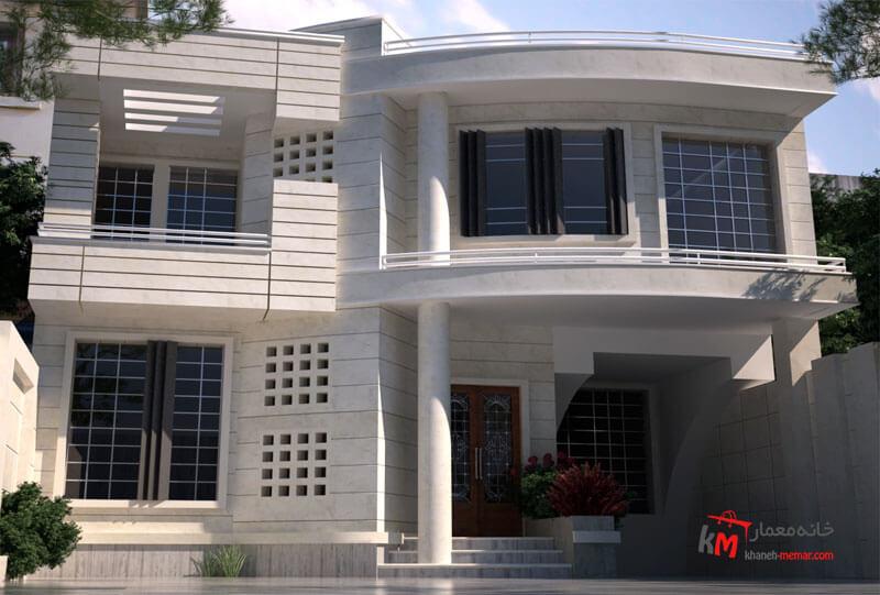 طراحی نما نمونه 15-01 |خانه معمار