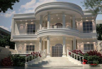 طراحی نما نمونه 18-01  خانه معمار