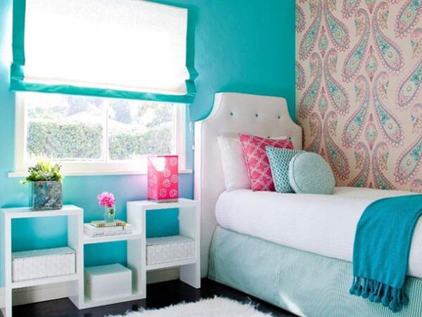 رنگ آبی در دکوراسیون بهترین ترکیب رنگها برای دکوراسیون اتاق دخترانه
