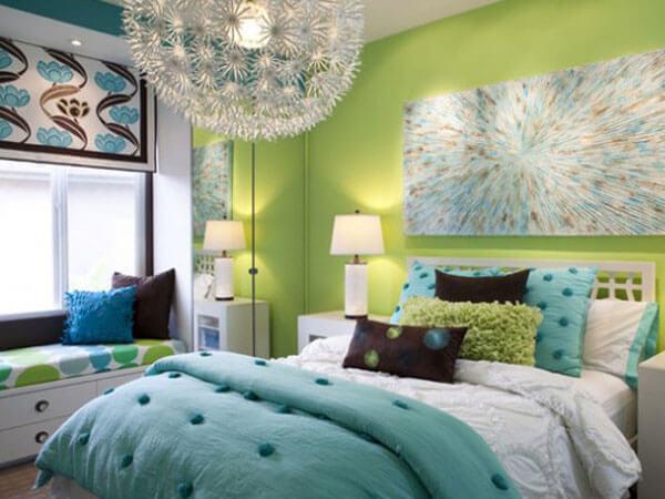 رنگ سبز در طراحی دکوراسیون اتاق کودک رنگهای خسته کننده برایاتاق خواب دخترانه