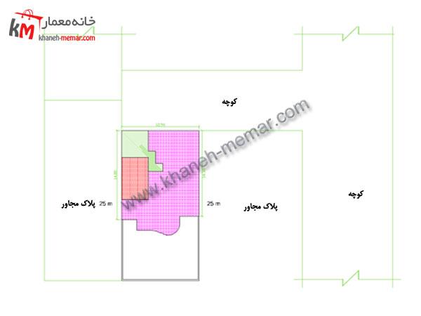 نقشه ساختمان مسکونی سایت پلان