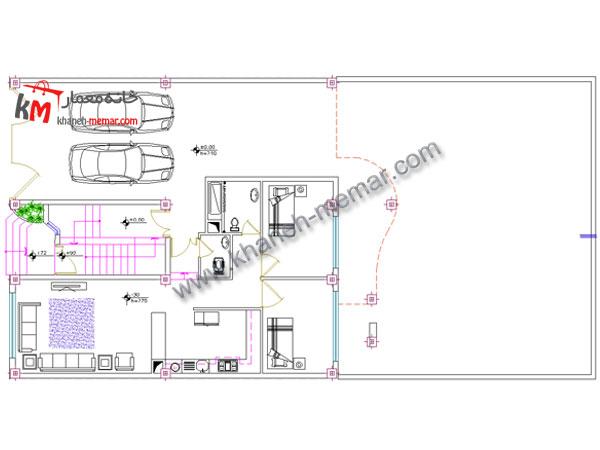نقشه ساختمان مسکونی طبقه همکف