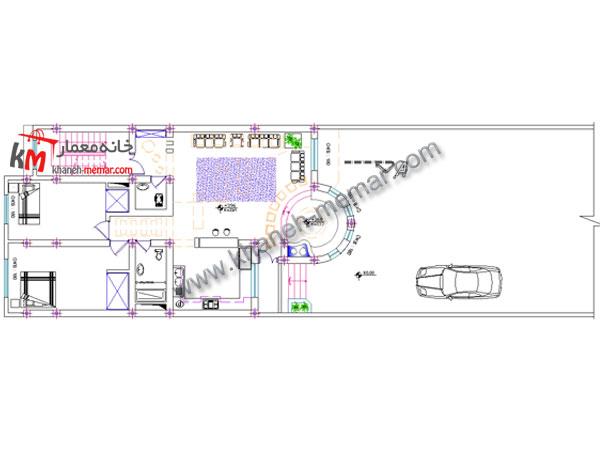 نقشه ساختمان ویلایی طبقه دوم