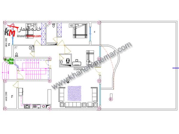 نقشه ساختمان مسکونی طبقه اول