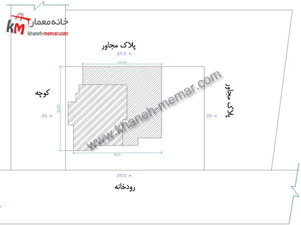 سایت پلان ساختمان مسکونی