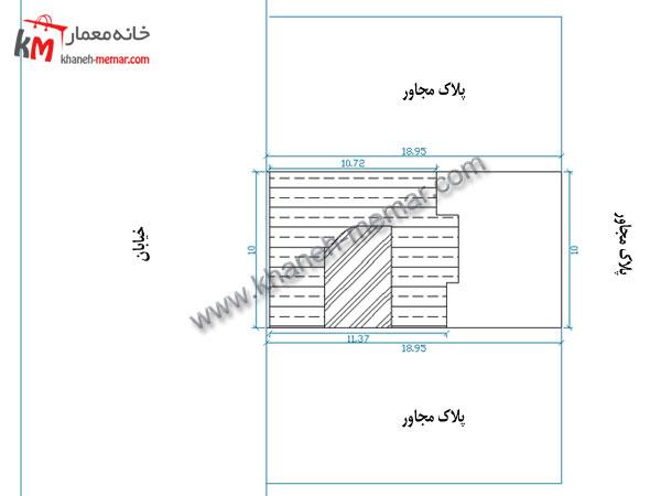 معماری نقشه ساختمان سایت پلان