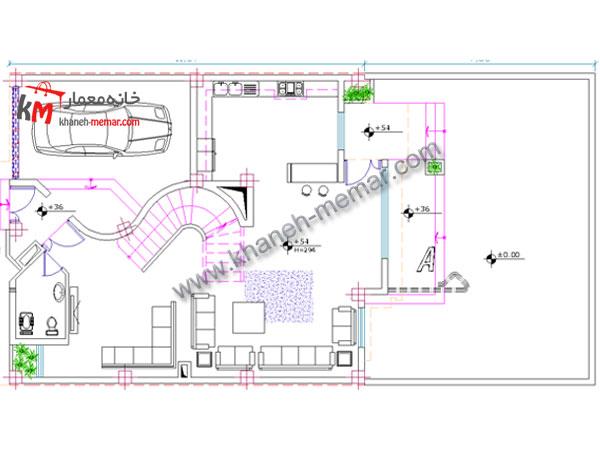 معماری نقشه ساختمان طبقه همکف