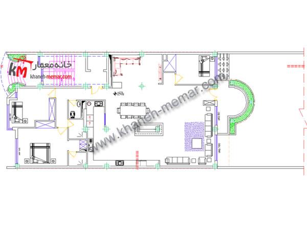 نقشه معماری طبقه اول