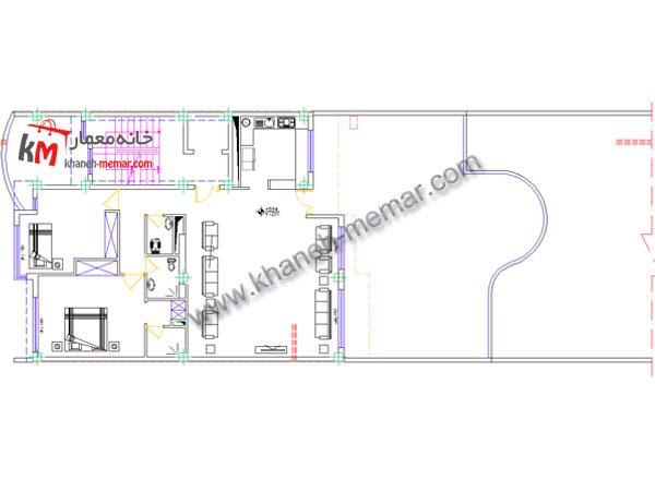 نقشه معماری طبقه دوم