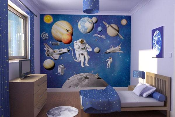 چیدمان اتاق خواب برای پسران فضانورد دکور خواب برای پسران دانشمند چه طرحی مناسب برای پسران باریگوش است؟