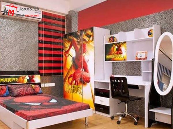 نقش دیوار ها در دکوراسیون اتاق خواب طراحی داخلی اتاق خواب پسرانه نوجوان