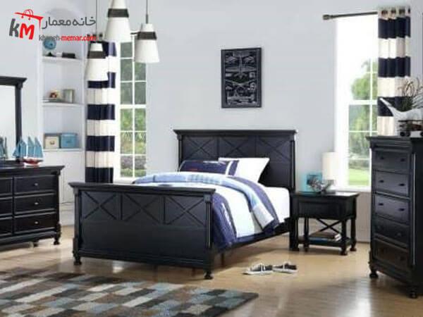 ترکیب رنگ مشکی و سفید در اتاق پسرانه طراحی داخلی اتاق خواب پسرانه نوجوان