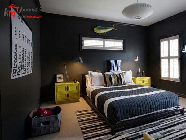 نقش دیوار ها در دکوراسیون اتاق خواب اتاق خواب پسرانه