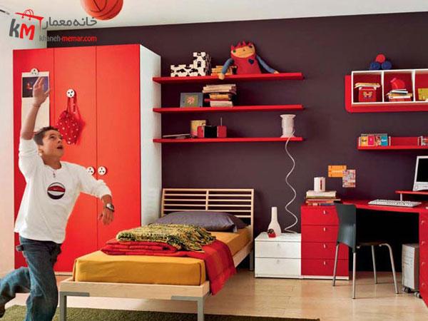 دکور اتاق خواب کودک نقش دیوار ها در دکوراسیون اتاق خواب