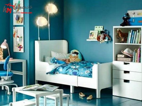 نقش دیوار ها در دکوراسیون اتاق خواب دکوراسیون داخلی اتاق خواب پسرانه