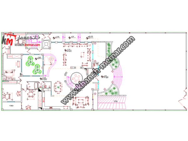نقشه خانه طبقه همکف