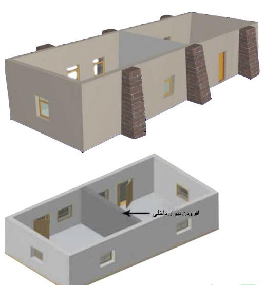 یکپارچگی در ساختمان مصالح بنایی با یک شبکه فولادی