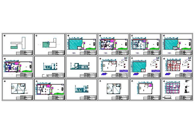 پلان ساختمان مسکونی یک طبقه35×13.5