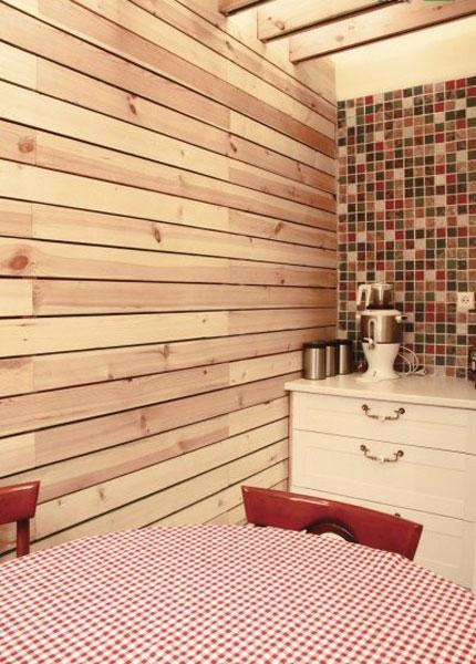 دیوار با متریال چوب