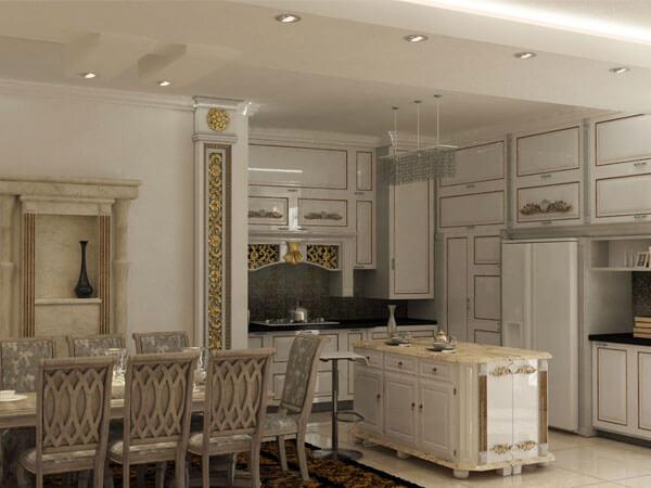 دکور کلاسیک در آشپزخانه