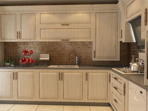 آشپزخانه کلاسیک با رنگ سفید