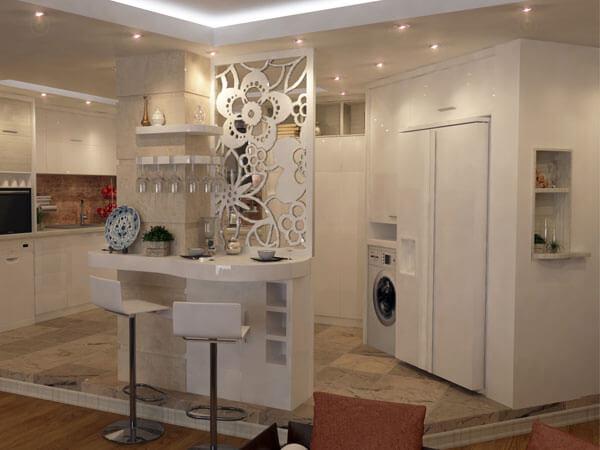 طراحی آشپزخانه با میز کانتر