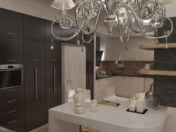 کمد آشپزخانه به رنگ تیره