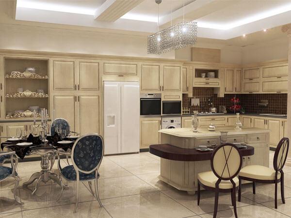 سبک کلاسیک در دکور آشپزخانه