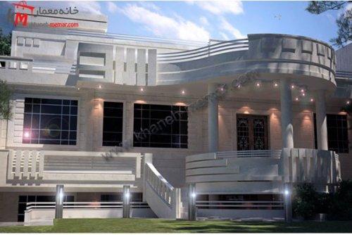 طراحی دیتیل ساختمان زیبا و چشم نواز