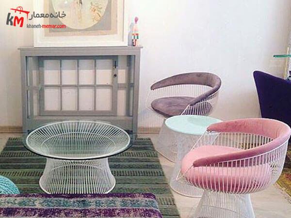 مبلمان راحتی تمام فلزی Relief sofa مبلمان فلزی و چوبی