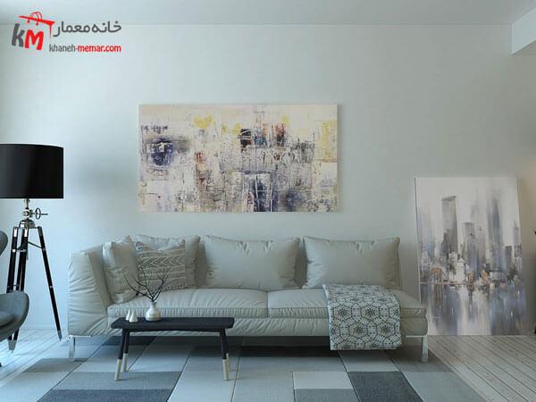 ست روشن مبلمان Relief sofa مبلمان فلزی و چوبی