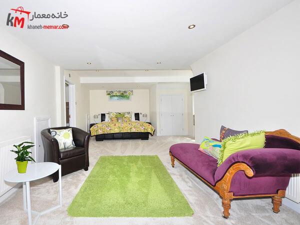 رنگهای شاد در دکوراسیون Relief sofa مبلمان فلزی و چوبی