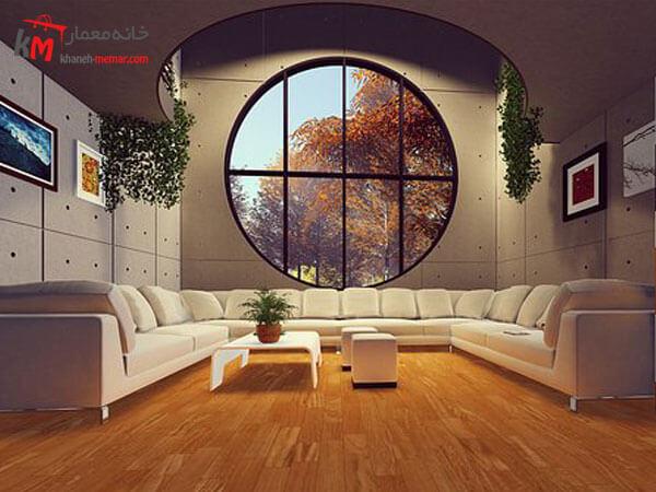 مبلمان سفید ال شکل مبلمان فلزی و چوبی فوق العاده شیک و باکیفیت