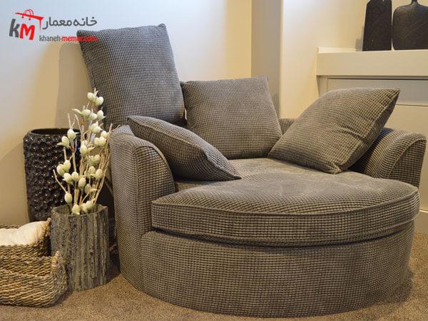 ملمان پارچه ایی Relief sofa مبلمان فلزی و چوبی