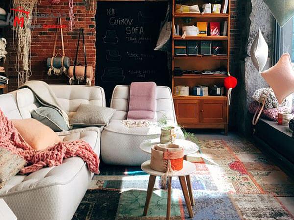 مبل سفید راحتی Relief sofa مبلمان فلزی و چوبی