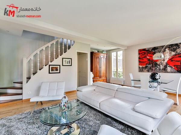 مبل راحتی ال شکل Relief sofa مبلمان فلزی و چوبی برای دکوراسیون سبک مدرن