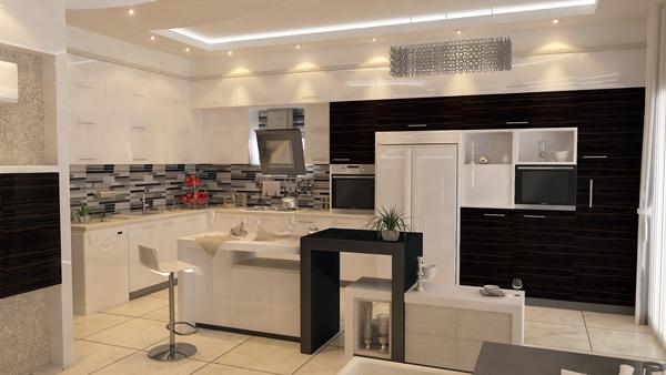 نقشه ویلایی دو طبقه آشپزخانه