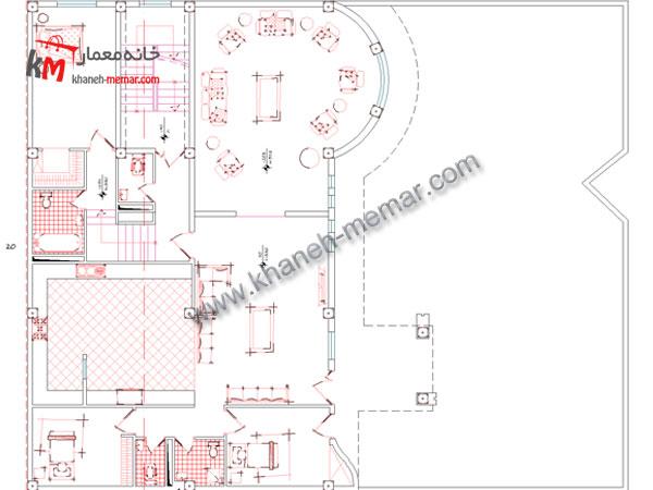 نقشه پلان ویلایی طبقه اول