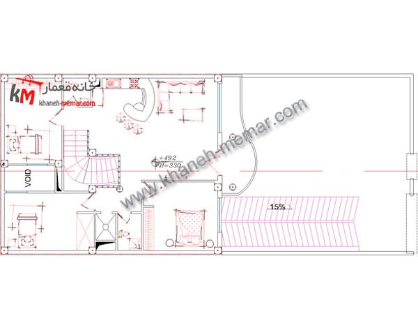 نقشه معماری منزل طبقه اول