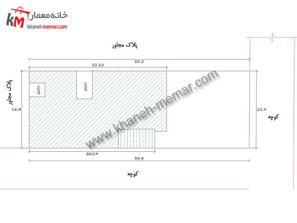 نقشه خانه دو طبقه سایت پلان