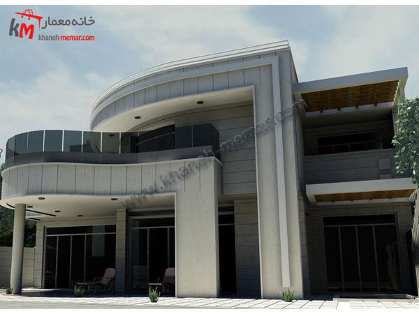 پلان رایگان|نما|نما خانه مسکونی21.5×21