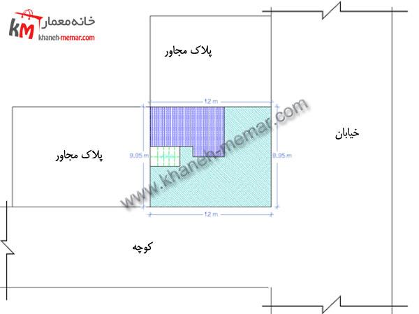 نقشه آپارتمان تجاری مسکونی سایت پلان