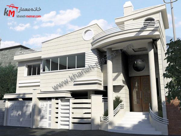 خانه دو طبقه|پلان ساختمان دو طبقه با پارکینگ34.95×13.84