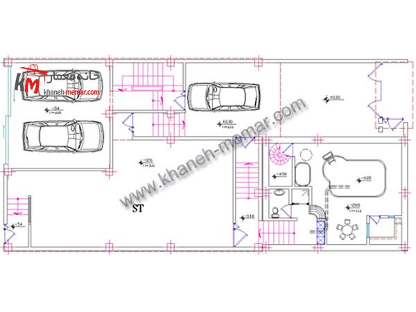 نقشه مدرن آپارتمان