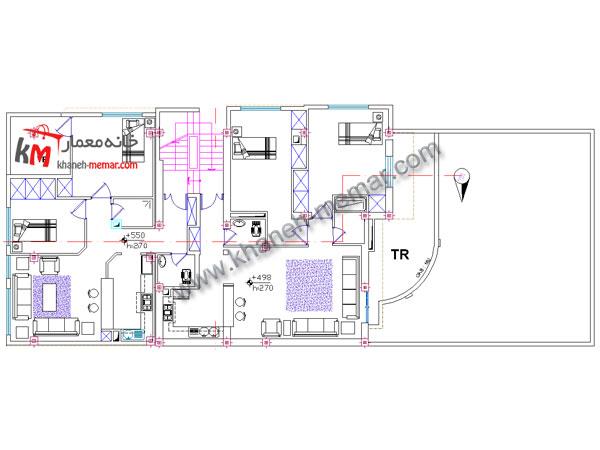 پلان سه طبقه تلفیقی