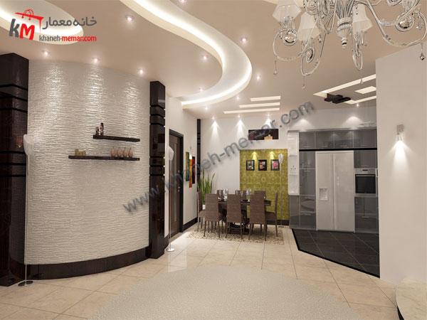 ساختمان سه طبقه |نما |دکور |نقشه مدرن30.79×11.95