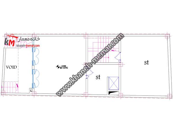 پلان اتوکد تجاری مسکونی-349-2