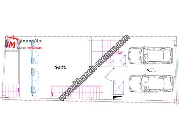 پلان اتوکد تجاری مسکونی-349-3