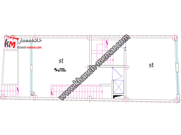 پلان اتوکد تجاری مسکونی-349-4